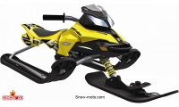 37009 Снегокат Snow Moto Ski Doo MXZ-X Yellow